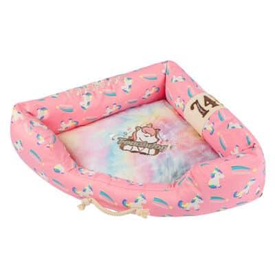 Touchdog Bed Unicorn pink