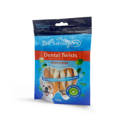 Dental Twists Peach Flavor