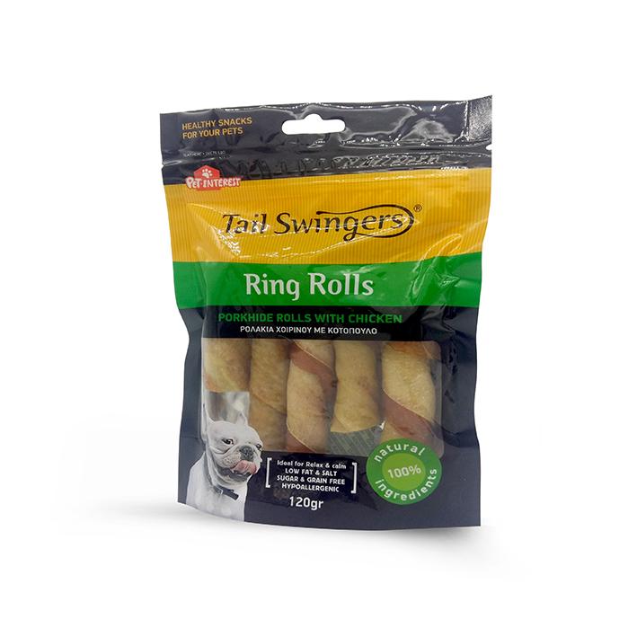 Porkhide Rolls with Chicken