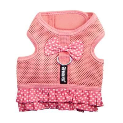 Pet Interest Mesh Harness With Skirt Pink